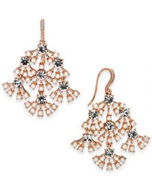 INC International Concepts I N C  Rose-Gold Tone Pearl   Crystal Chandelier Earrings  Created for Macy s   Reviews - Fashion Jewelry - Jewelry   Watches - Macy s at Macys