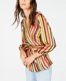 INC International Concepts I N C  Striped Wrap Top  Created for Macy s   Reviews - Tops - Women - Macy s at Macys