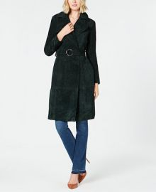 INC International Concepts I N C  Suede O-Ring Trench Coat  Created for Macy s   Reviews - Jackets   Blazers - Women - Macy s at Macys