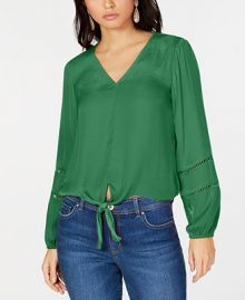 INC International Concepts I N C  Tie-Front Top  Created for Macy s   Reviews - Women - Macy s at Macys