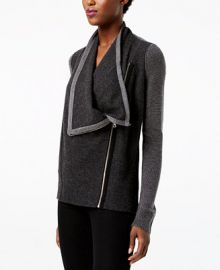 INC International Concepts I N C  Waffled Zip Completer Sweater  Created for Macy s Women -  Sweaters - Macy s at Macys