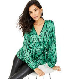 INC International Concepts INC Animal-Print Wrap Top  Created For Macy s    Reviews - Tops - Women - Macy s at Macys