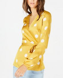 INC International Concepts INC Dotted Wrap Blouse  Created for Macy s    Reviews - Tops - Women - Macy s at Macys