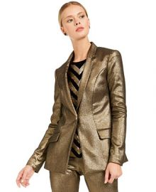INC International Concepts INC Metallic Blazer  Created For Macy s   Reviews - Jackets   Blazers - Women - Macy s at Macys