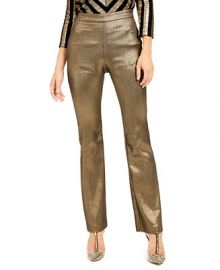 INC International Concepts INC Metallic Bootcut Pants  Created For Macy s    Reviews - Pants   Leggings - Women - Macy s at Macys