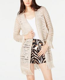 INC International Concepts INC Petite Crochet Fringe Cardigan Completer  Created for Macy s   Reviews - Sweaters - Petites - Macy s at Macys