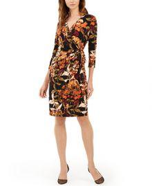 INC International Concepts INC Petite Jungle Print Faux Wrap Dress  Created For Macy s   Reviews - Dresses - Petites - Macy s at Macys