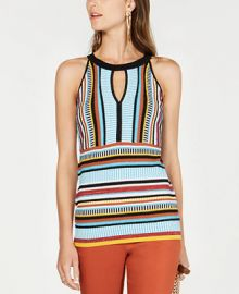 INC International Concepts INC Petite Striped Knit Halter Top  Created for Macy s   Reviews - Sweaters - Petites - Macy s at Macys