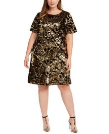 INC International Concepts INC Plus Size Two-Tone Sequin Dress  Created For Macy s   Reviews - Dresses - Plus Sizes - Macy s at Macys