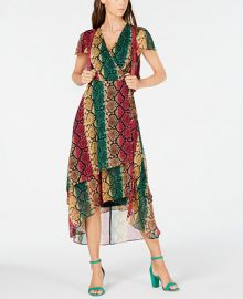 INC International Concepts INC Snake-Embossed Wrap Dress  Created for Macy s   Reviews - Dresses - Women - Macy s at Macys