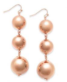INC International Concepts Large Ball Triple Drop Earrings at Macys