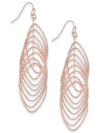 INC International Concepts Navette Multi-Ring Drop Earrings at Macys