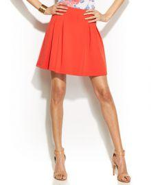 INC International Concepts Pleated Scuba Mini Skirt at Macys