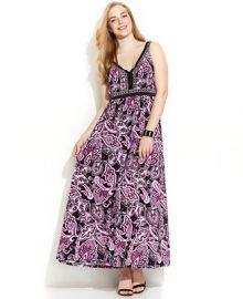 INC International Concepts Plus Size Printed Maxi Dress at Macys