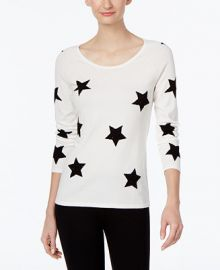 INC International Concepts Star-Print Sweater  Only at Macy s at Macys