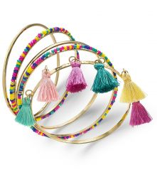 INC International Concepts Wrapped & Tassel Bangle Bracelets at Macys
