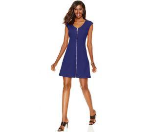 INC International Concepts Zip-Front A-Line Dress  at Macys