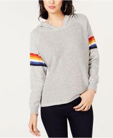INC Rainbow Stripe Pullover Hoodie at Macys