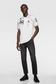 INSECT PRINT POLO at Zara