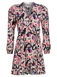 IRO - Bloomy Printed Wrap Dress at Saks Fifth Avenue