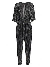 IRO - Chimbote Metallic Pleated Popover Jumpsuit at Saks Fifth Avenue