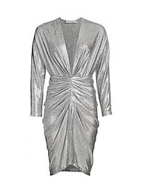 IRO - Cilty Ruched Metallic Dress at Saks Fifth Avenue
