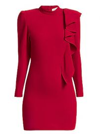 IRO - Deteo Long-Sleeve Ruffle Mini Dress at Saks Fifth Avenue