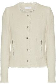IRO   Frayed cotton-tweed jacket at Net A Porter