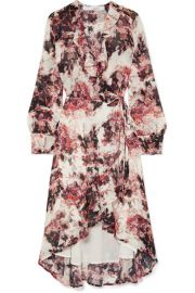 IRO - Ruffle-trimmed floral-print georgette wrap dress at Net A Porter