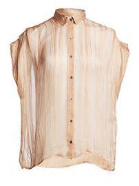 IRO - Ruts Sheer Striped Button-Down Shirt at Saks Fifth Avenue