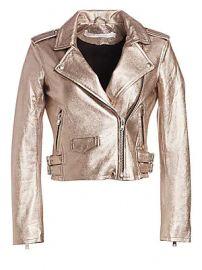 IRO Ashville Cropped Metallic Jacket at Saks Fifth Avenue