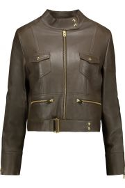 IRO Broome leather biker jacket at The Outnet