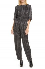 IRO Chimbote Pleated Metallic Jumpsuit   Nordstrom at Nordstrom