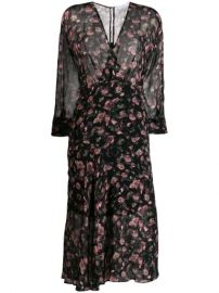 IRO Floral Flared Midi Dress - Farfetch at Farfetch