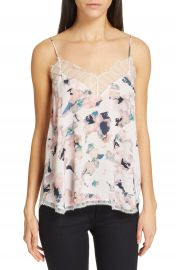 IRO Flowa Lace Trim Floral Print Camisole   Nordstrom at Nordstrom