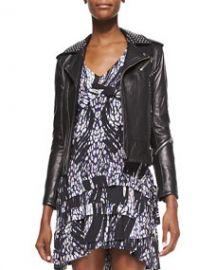 IRO Wenda Studded Lambskin Moto Jacket at Neiman Marcus