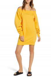 IVY PARK   Blouson Bardot Sweatshirt Dress at Nordstrom