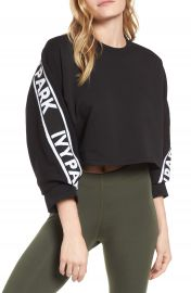 IVY PARK   Logo Tape Crop Sweatshirt   Nordstrom at Nordstrom