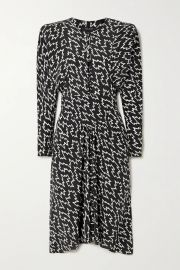 Ibelky Gathered Printed Dress by Isabel Marant at Net A Porter