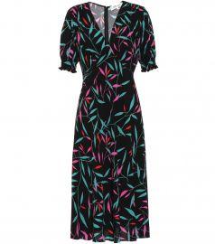 Idris printed cr  pe midi dress at Mytheresa
