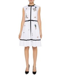 Iina Embroidered Windsor Gate Dress at Bloomingdales