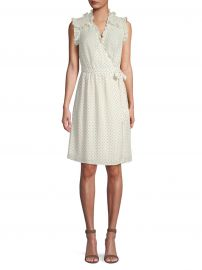 Ikat Sleeveless Polka Dot Wrap Dress at Saks Off 5th