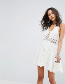 Ilektra Lace Cami Mini Dress by Free People at ASOS