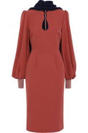 Ilexa cape-effect cutout crepe dress at The Outnet