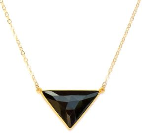 Illiana Black Onyx Triangle Pendant Necklace at Brooklyn Designs