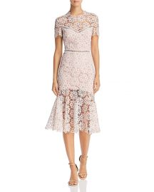 Illusion Lace Midi Dress Saylor at Bloomingdales