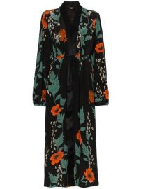 Iman silk floral kimono at Farfetch