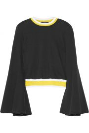 Immortal stretch knit-trimmed cotton sweater t at The Outnet