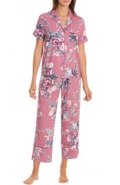 In Bloom by Jonquil Crop Pajamas in Bed of Roses adobe at Nordstrom