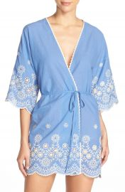 In Bloom by Jonquil Embroidered Cotton Robe at Nordstrom